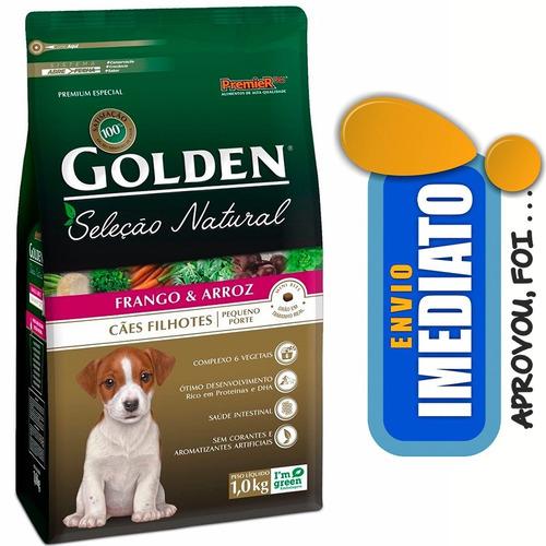 ração golden seleção natural cães filhote minibits 10,1kg
