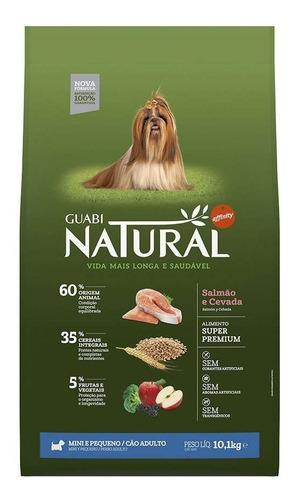 ração guabi natural cães ad mini salmão e cevada 10kg