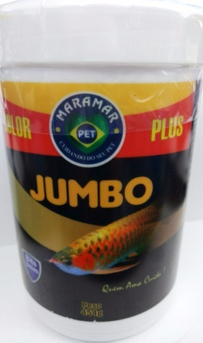 ração jumbo color plus 454g  3mm maramar