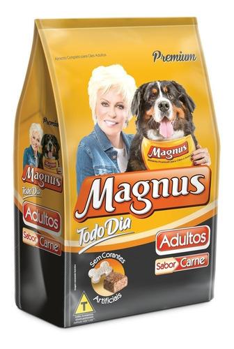 ração magnus premium carne todo dia 25kg frete gratis+brinde