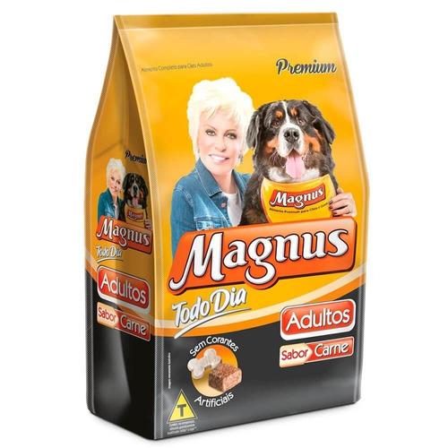 ração magnus premium todo dia - cães adultos carne 25kg