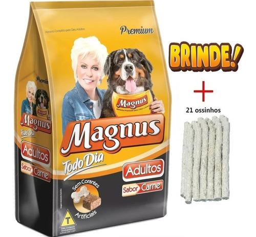 ração magnus todo dia para cães adultos 25kg + brinde