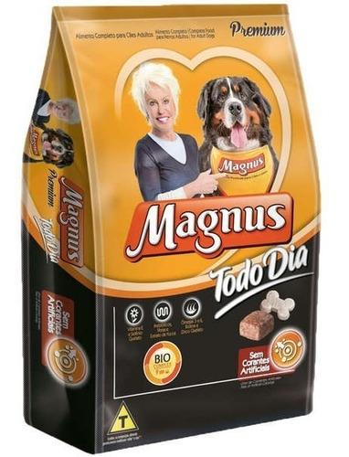 ração magnus todo dia premium 15kg + escova tipo rastelo