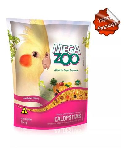 ração megazoo para calopsitas com frutas e legumes 350 gr