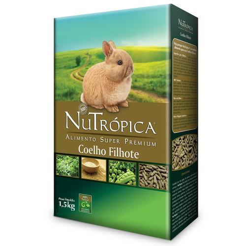 ração nutrópica para coelho filhote - 1,5kg