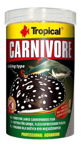 ração para peixe tropical carnivore 600g - pet hobby
