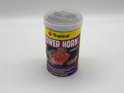 ração para peixe tropical flower horn adult 380g - pet hobby