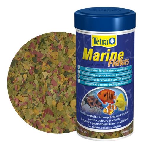 ração para peixes marinho tetra marine flakes 80g