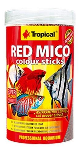 ração para peixes tropical red mico colours sticks 80g