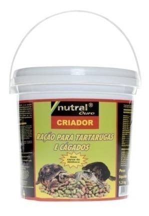 ração para tartarugas e cágados nutral 1,300kg criador 1,3kg