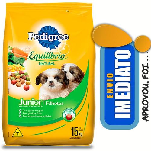 ração pedigree equilíbrio natural junior cães filhotes 15 kg