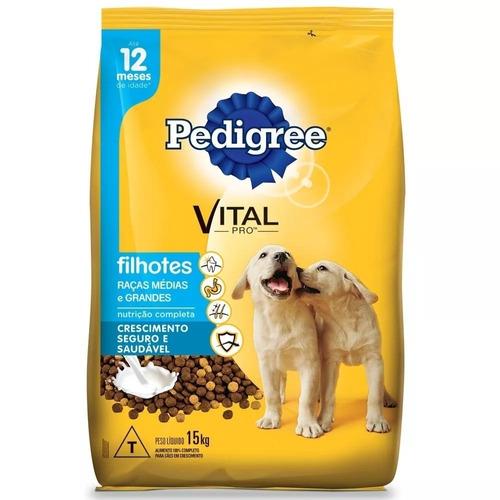 ração pedigree junior cães filhotes raça média e grande 15kg