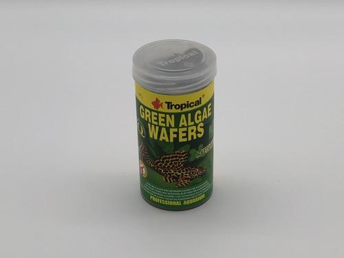 ração peixe tropical green algae wafers 113g cascudos fundo