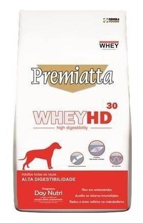 ração premiatta whey hd adultos todas as raças 12 kg, cães