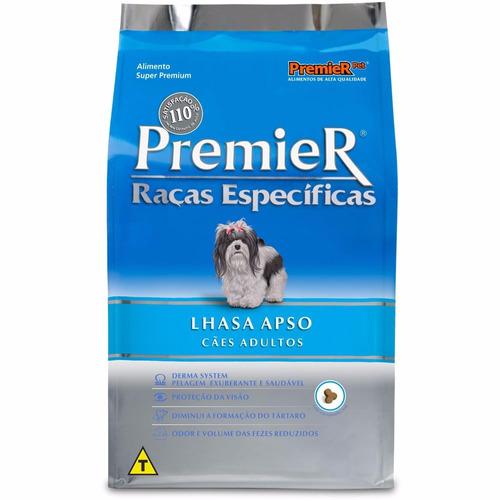 ração premier específicas lhasa apso adulto 7,5 kg + brinde