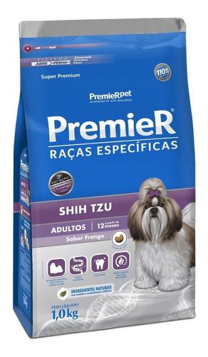 ração premier raças específicas shih tzu super premium cachorro adulto raça pequena frango 1kg