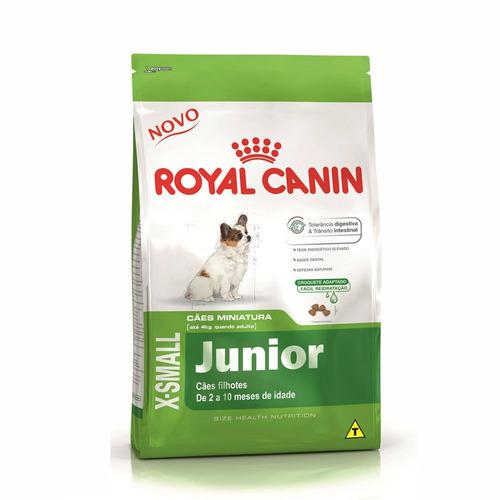 ração royal canin canine cães filhotes x-small junior 2,5kg