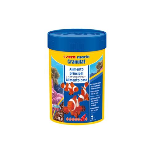 ração sera granulat 45g alimentação base p/ peixes marinhos