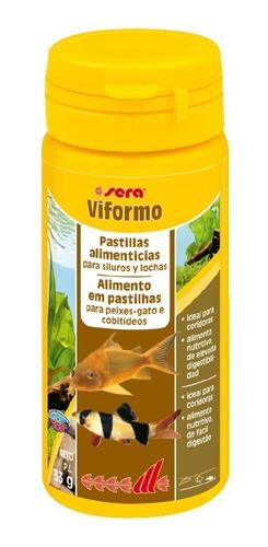 ração sera viformo 68g para peixe gato, bótias, coridoras