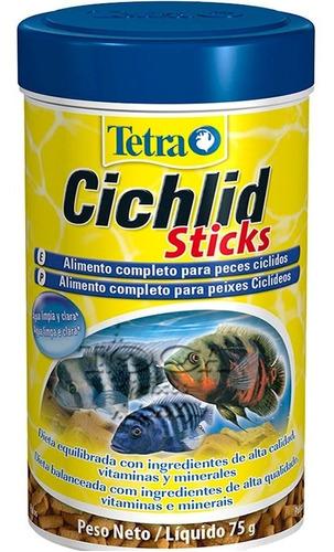 ração tetra cichlid sticks em palitos - 75gr