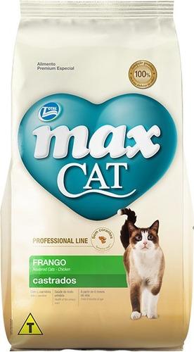 ração total max cat para gatos castrados 20 kg + brinde