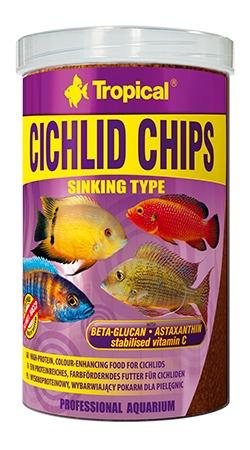 ração tropical cichlid chips 130g