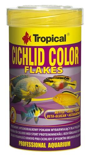 ração tropical cichlid color flakes 50g