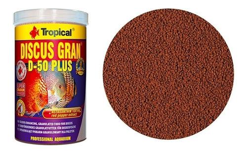 ração tropical discus gran d-50 plus 440g peixes discos d 50