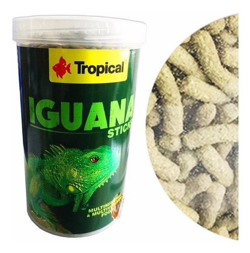 ração tropical iguana sticks 260g - reptéis alimento