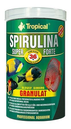 ração tropical super spirulina forte granulat 60g