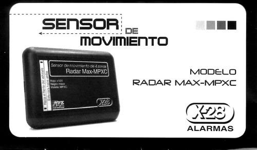 radar x-28 sensor de movimiento asecrets