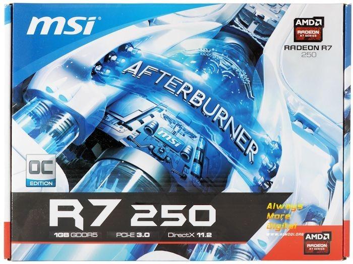 Radeon R7 250 1gb Gddr5 Oc - Msi
