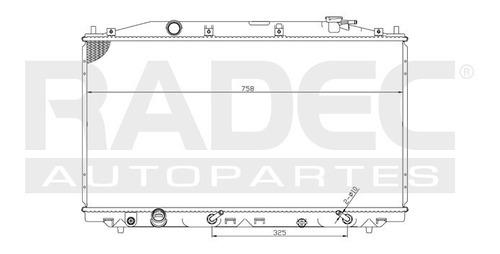 radiador  accord 08-14 l4 2.4 lts automatico