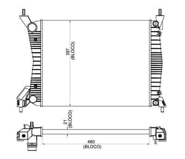 radiador agua uno 1.0 1.4 10/ palio 1.0 1.4 1.6 11-13 12543