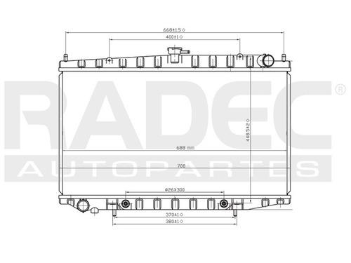 radiador  altima 93-99 l4 2.4 lts automatico
