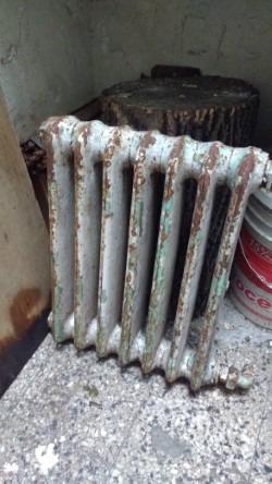 radiador antiguo hierro, 7  velas