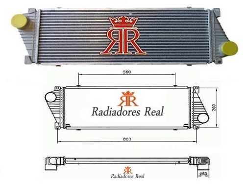 radiador ar /  intercooler sprinter toda em aluminio