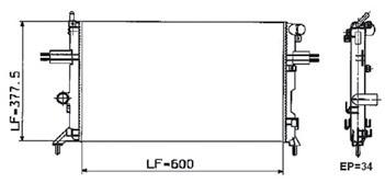 radiador astra 1.8 2.0 8v 16v man com ar 98-03 valeo 732809r