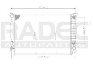 radiador audi a6 2006-2007-2008-2009 l4/v6 2.0/3.0lts automa