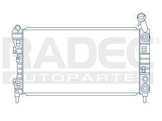 radiador buick lacrosse 2004-2005 l4/v6 2.4/3.8l automatico