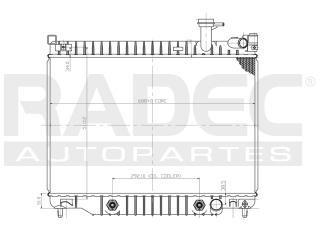 radiador buick rainier 2002-2003 v8 5.3/6.0l c/aire automati