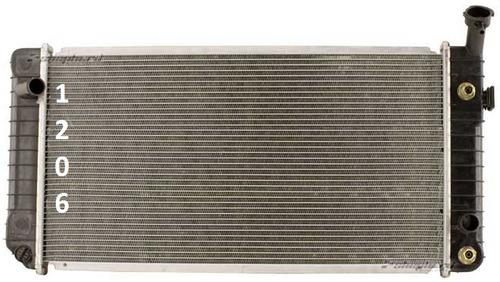 radiador buick regal 3.1l 3.8l v6 1991 - 1993 nuevo!!!