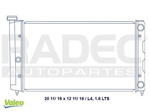radiador  caribe/atlantic 80-84 l4 1.6/1.8/2.0 lts c/aire ac