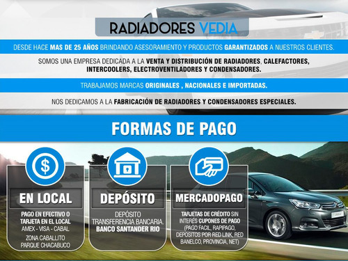 radiador chevrolet astra / vectra 09´ manual / automat 2.4