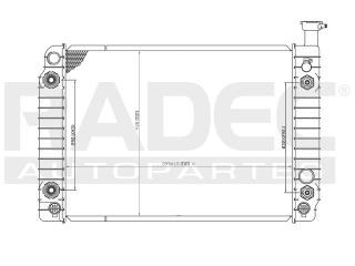radiador chevrolet astro 1987-1988 v6 4.3 lts 2enfriador aut