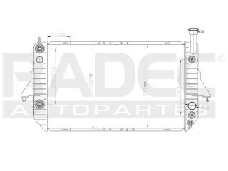 radiador chevrolet astro 1995-1996-1997-1998 v6 4.3 lts auto
