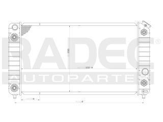 radiador chevrolet blazer 1999-2000-2001 v6 4.3lts 2enfr aut