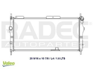 radiador chevrolet chevy 2005 l4 1.4/1.6lts s/aire std corto