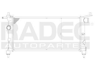 radiador chevrolet chevy 2007 l4 1.4/1.6lts corto s/aire std