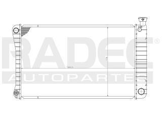 radiador chevrolet cheyenne 1991-1992-1993 v8 5.0/5.7l std